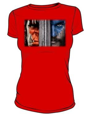 Koszulka damska czerwona Horde