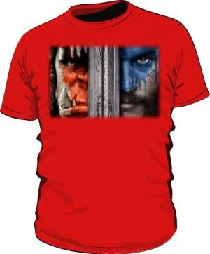 Koszulka męska czerwona Horde