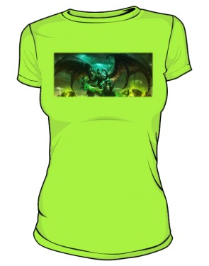 Koszulka damska jasna zieleń Legion