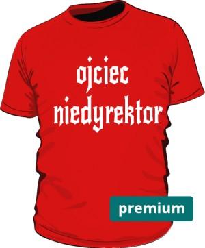 koszulka ojciec czerwona 2 premium