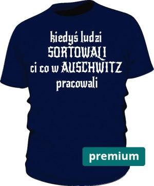 koszulka sortowanie niebieska
