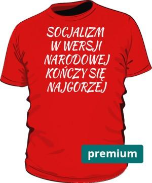 koszulka socjalizm czerwona 2