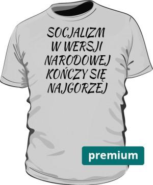 koszulka socjalizm szara