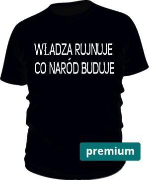 koszulka rujnuje czarna premium