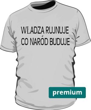 koszulka rujnuje szara premium