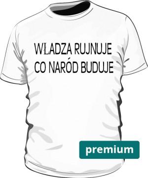 koszulka rujnuje biała premium
