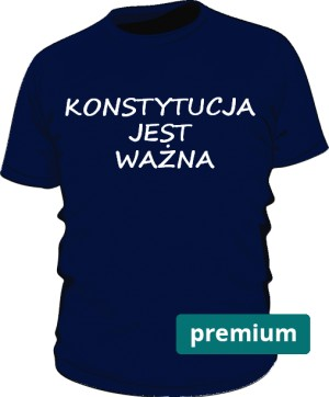 koszulka konstytucja niebieska