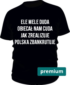 koszulka ele mele czarna