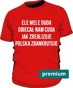 koszulka ele mele czerwona 2 premium