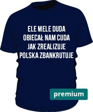 koszulka ele mele niebieska premium