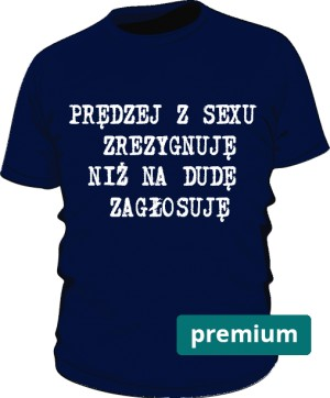 koszulka sex niebieska