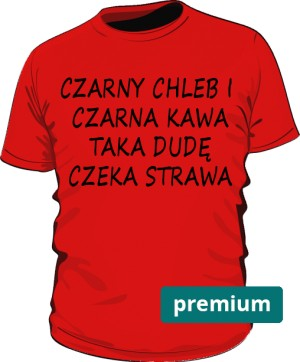 koszulka chleb czerwona premium