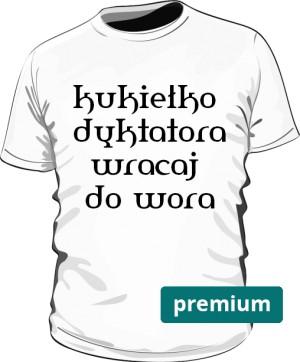 koszulka kukiełka biała premium
