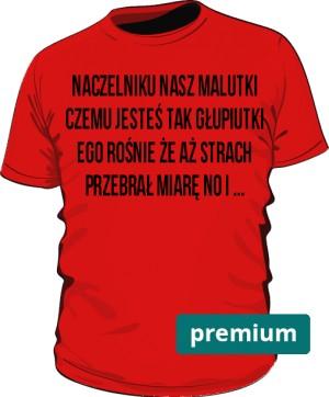 koszulka naczelnik czerwona premium
