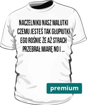 koszulka naczelnik biała premium
