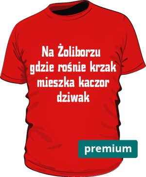 koszulka dziwak czerwona 2 premium