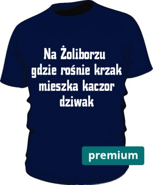 koszulka dziwak niebieska