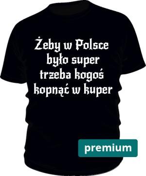 koszulka kuper czarna premium