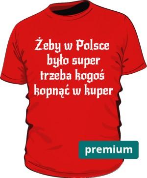 koszulka kuper czerwona 2 premium