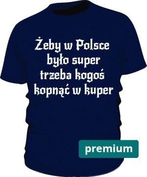 koszulka kuper niebieska