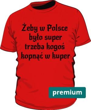 koszulka kuper czerwona premium