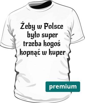 koszulka kuper biała premium