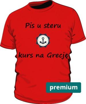 koszulka ster czerwona premium