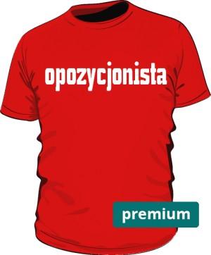 koszulka opozycjonista czerwona 2
