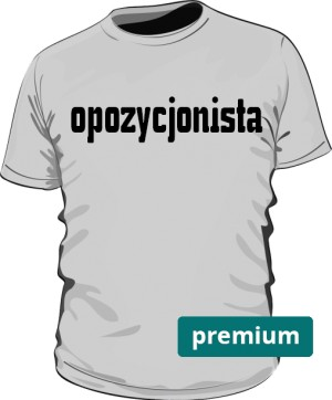 koszulka opozycjonista szara premium