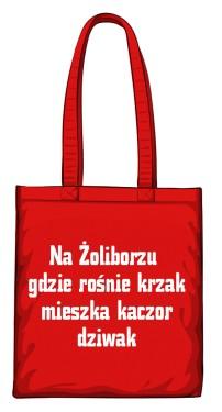 torba krzak czerwona