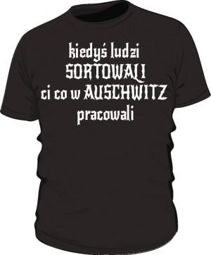 koszulka sortowanie czarna
