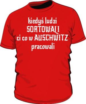 koszulka sortowanie czerwona