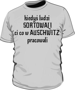 koszulka sortowanie szara