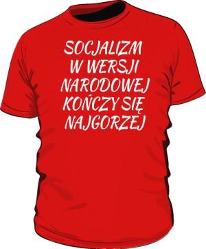 koszulka socjalizm czerwona