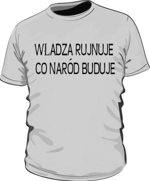 koszulka rujnuje szara