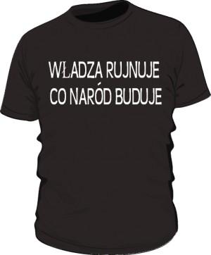 koszulka rujnuje czarna