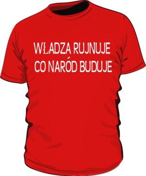 koszulka rujnuje czerwona