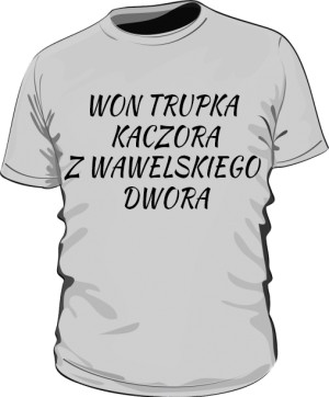 koszulka won szara