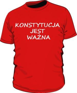 koszulka konstytucja czerwona