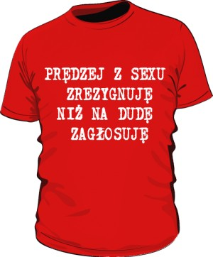koszulka sex czerwona