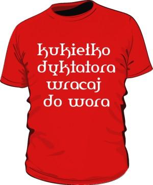 koszulka kukiełka czerwona