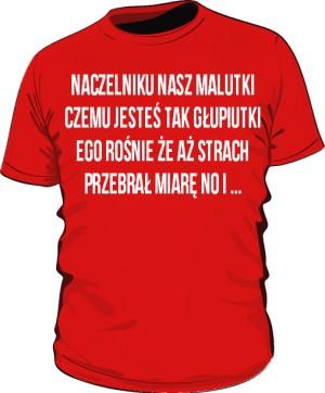 koszulka naczelnik czerwona