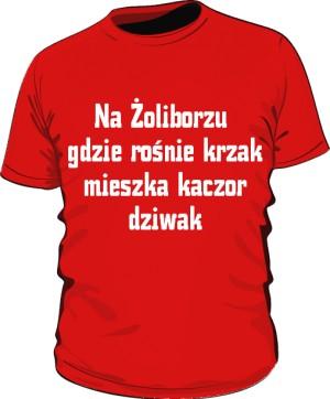 koszulka krzak czerwona