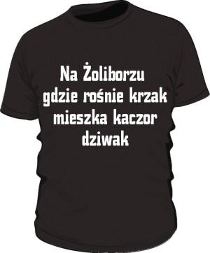 koszulka krzak czarna