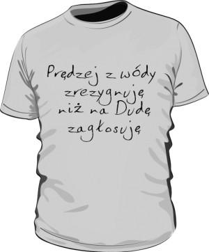 koszulka wóda szara