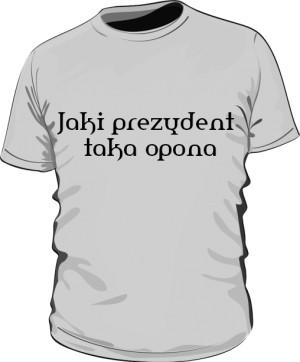 koszulka opona szara