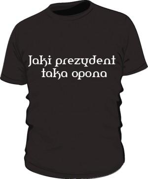 koszulka opona czarna