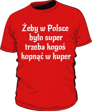 koszulka kuper czerwona