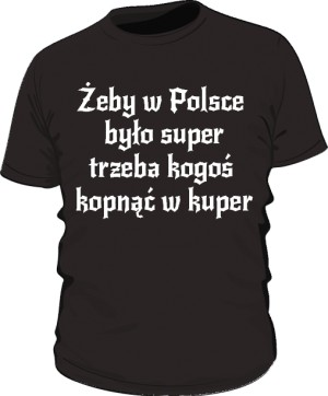 koszulka kuper czarna