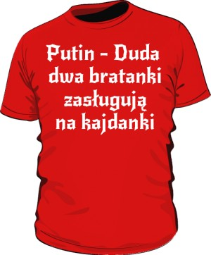koszulka putin czerwona